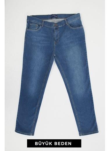 Modaset Büyük Beden Jean Pantolon Mavi Mavi